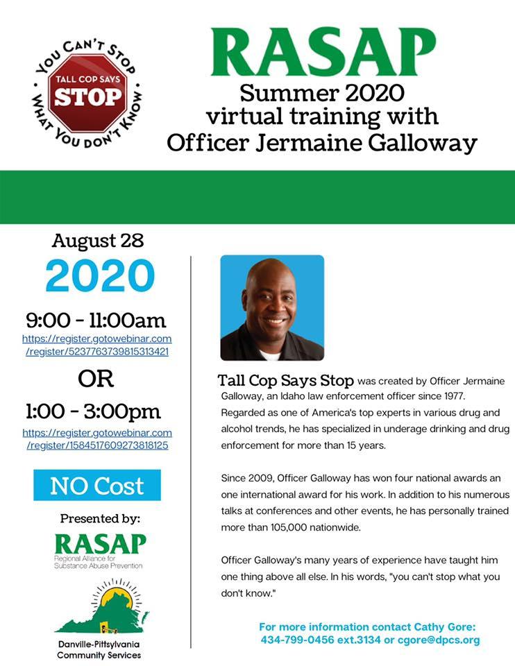 Tall Cop informational flyer